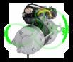 Стартер редукторный 24 Вольт, 6.6 кВт для SCANIA (truck, engine)