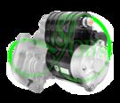 Стартер редукторный на BOBCAT, CUMMINS, PERKINS, CARRIED TRANSICOLD 12 Вольт, 2.8 кВт